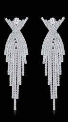 MERRINA LONG CRYSTAL EARRINGS - Selina Bikini