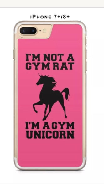 GYM UNICORN PHONE CASE COVER FOR IPFONE 7 - Selina Bikini
