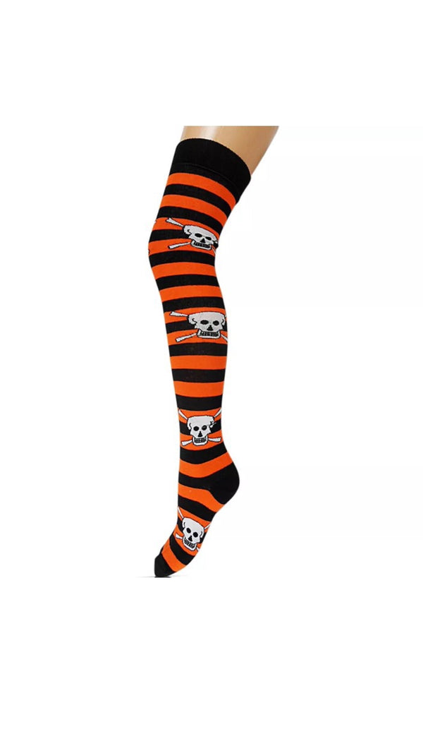 SCULLS BLACK AND ORANGE OVER KNEE SOCKS - Selina Bikini