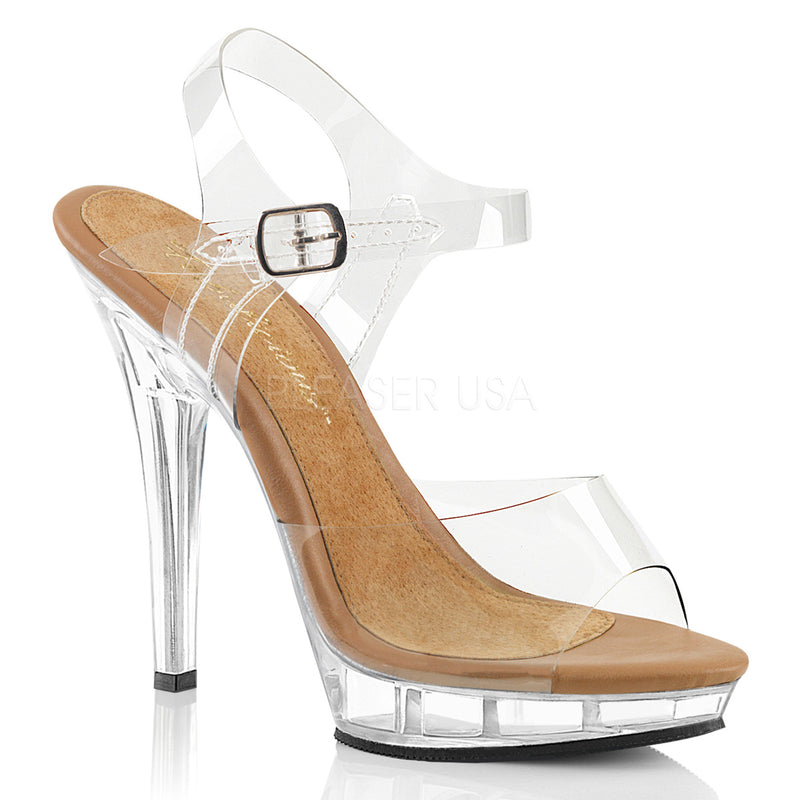 LIP 108 CLEAR AND TAN POSING SHOES - Selina Bikini