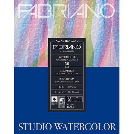 Fabriano Studio Cold-Press Watercolour Pads