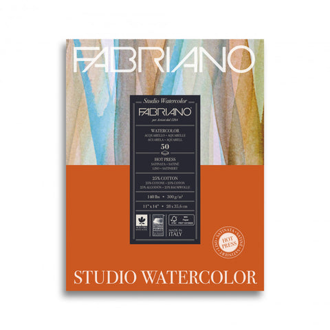 Fabriano Studio Hot-Press Watercolour Pads