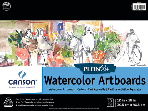 Plein Air Watercolor Artboard Pads