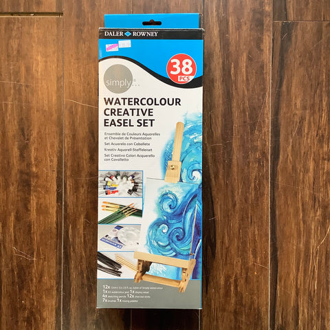 Watercolour Creative Easel Set 38pcs