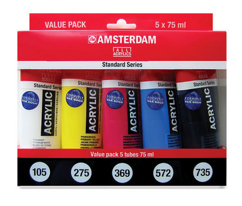 Amsterdam Acrylic Mixing 5-Color Set