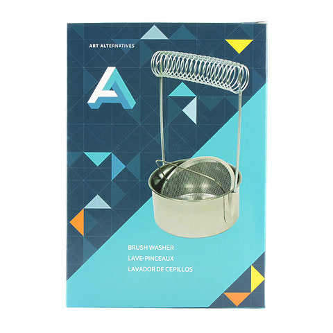 Stainless Steel Brush Washer & Holder