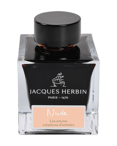 Jacques Herbin 50ml ink bottle:  Nude by Marc-Antoine Coulon
