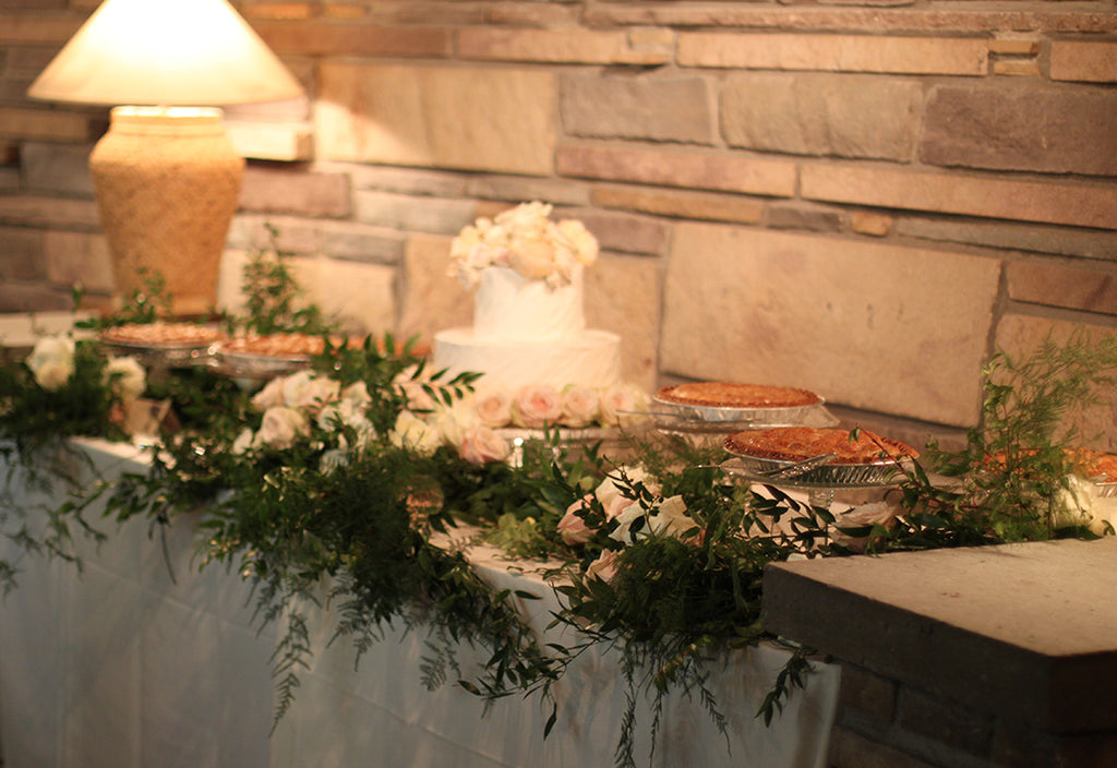 wedding buffet by sewickley event florist - cuttings