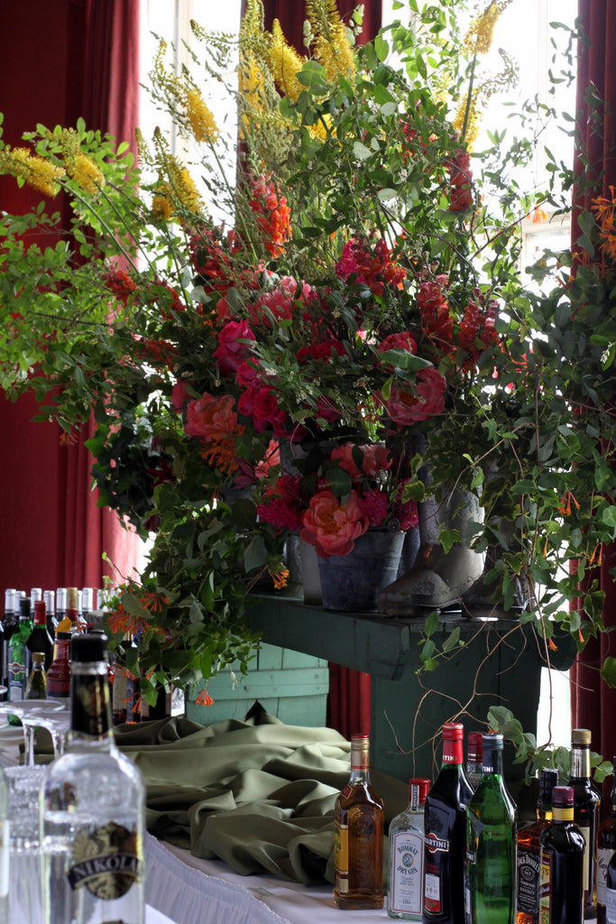 garden bar back by pittsburgh event florist - cuttings