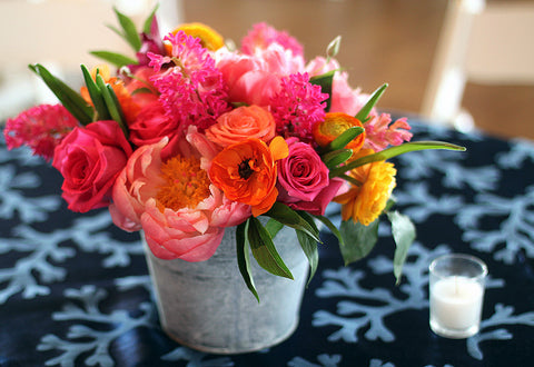 bright spring arrangement by sewickley event florist - cuttings
