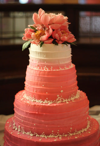 wedding cake flowers - pittsburgh event florist