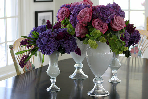 custom dining table arrangement by sewickley event florist