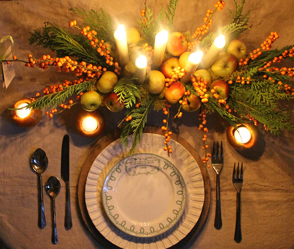 thanksgiving table setting by cuttings