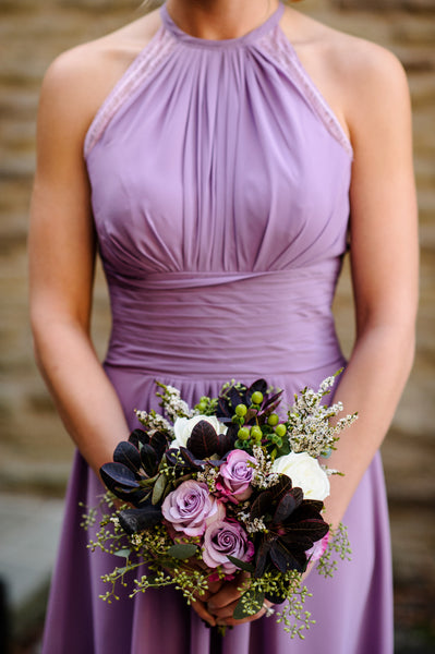bridesmaid bouquet at longue vue from pittsburgh event florist