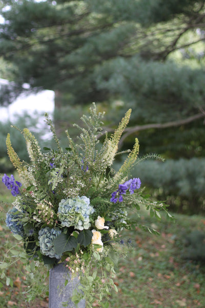 entry arrangement from stone barn wedding from sewickley wedding florist