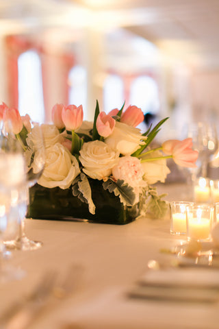 wedding arrangement at bedford springs by pittsburgh event florist