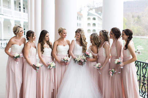 bridal party at bedford springs by pittsburgh event florist