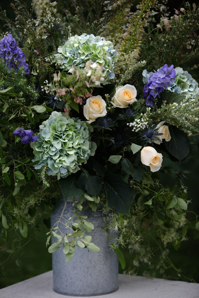 wedding arrangement from stone barn wedding by pittsburgh wedding florist