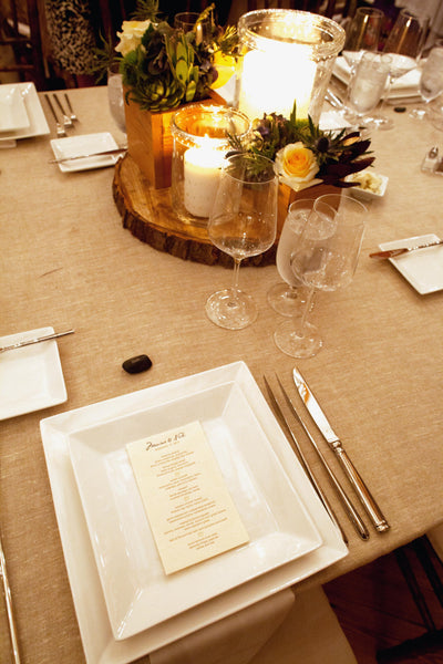 wedding table from stone barn wedding by pittsburgh wedding florist