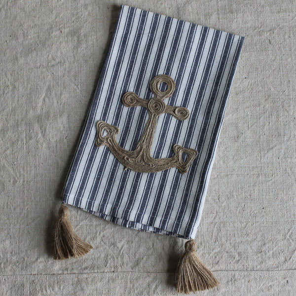 anchor hand towel
