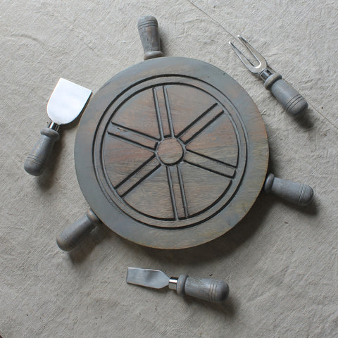 ship wheel cheese board