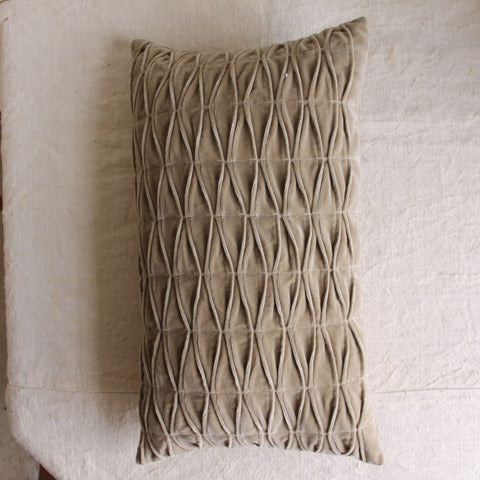 Smocked Velvet Pillow
