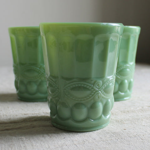 milk glass juice glasses