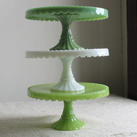 milk glass pedestal