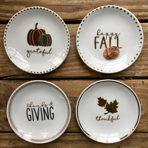 Fall Tidbit Plates