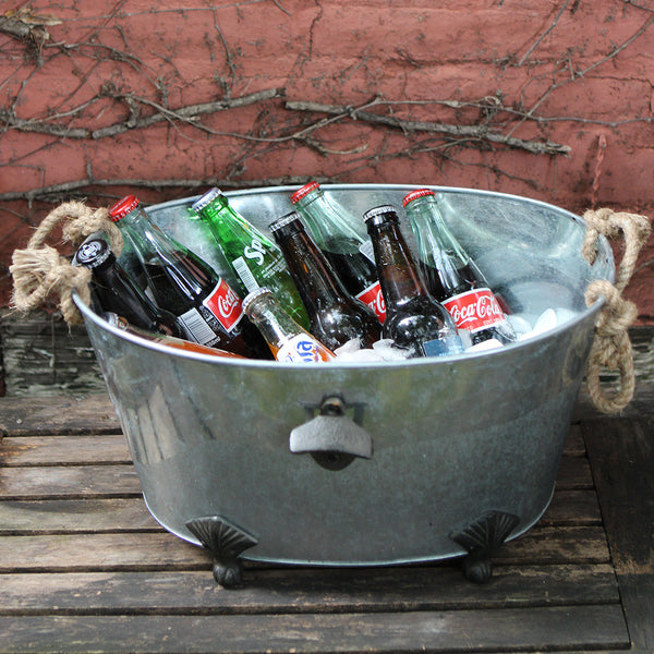 galvanized beverage tub from sewickley home & garden store - cuttings