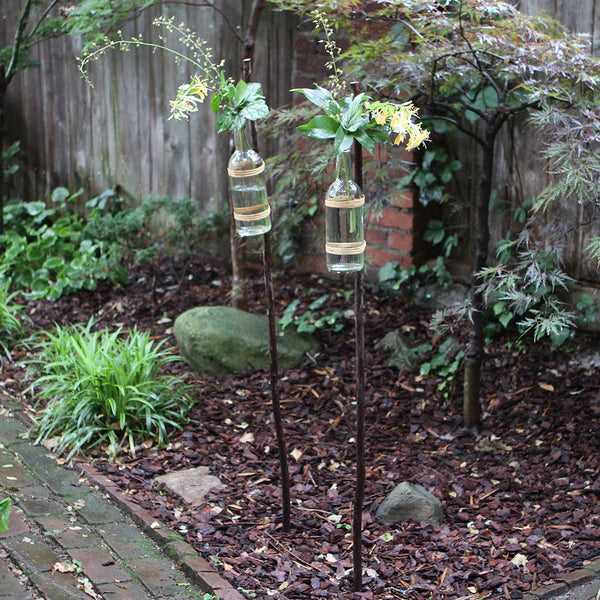 bottle yard stakes from sewickley home & garden store - cuttings