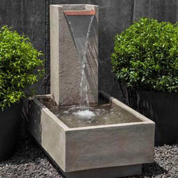 falling water fountain from cuttings' garden in sewickley and pittsburgh