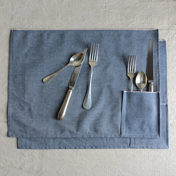 denim placemats from sewickley home & gift store