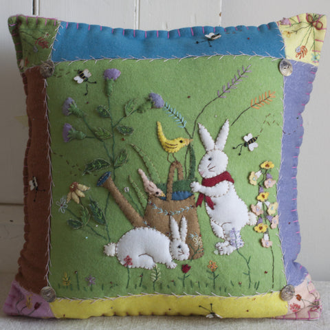 Felted Rabbit Pillow