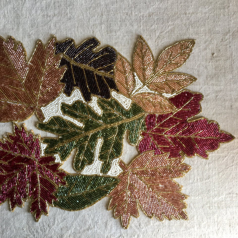 Beaded Leaves Runner