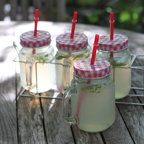 mason jar drink set