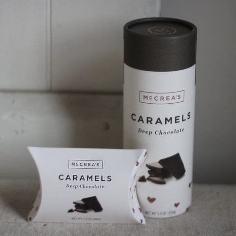 deep chocolate caramels