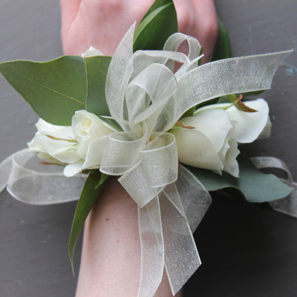 wrist corsages at cuttings in sewickley, pa