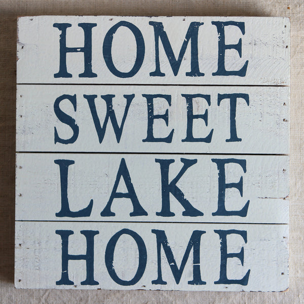 wooden lake signs
