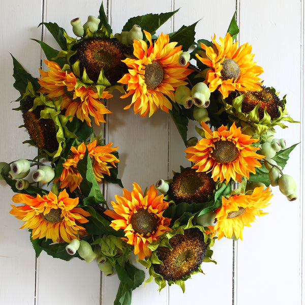 sunflower wreath from cuttings in sewickley and pittsburgh