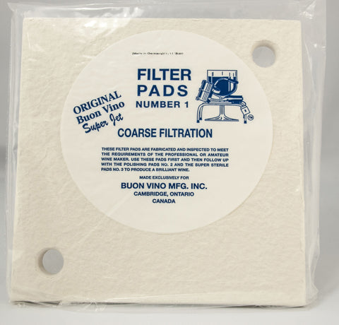 Buon Vino SuperJet #1 Coarse Filter Pads|Tampons filtres #1 Buon Vino SuperJet