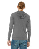 Unisex Triblend Full-Zip Lightweight Hoodie - Bella + Canvas