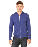 Triblend blue zip up sweater