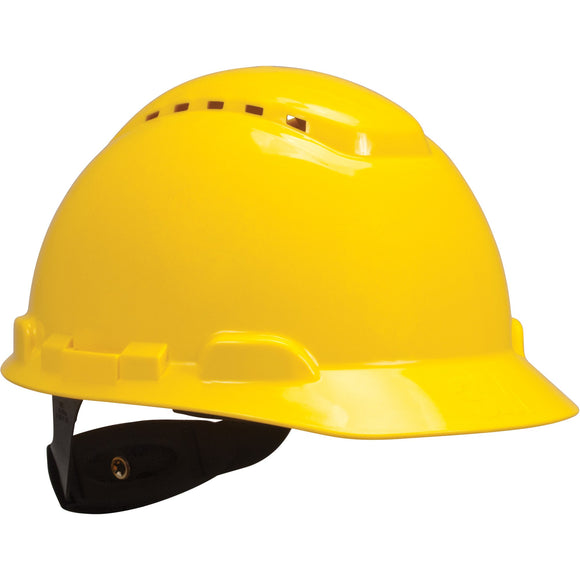 3M vented yellow hardhat with uvicator sensor