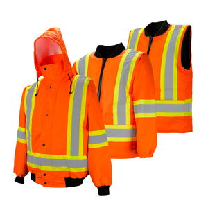 6-in-1 high visibility winter jacket
