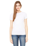 white fitted ladies t-shirt