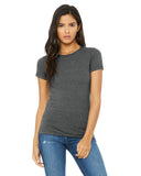 grey fitted ladies t-shirt