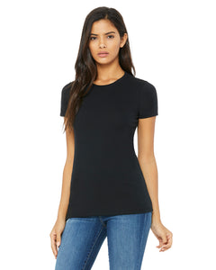 black fitted ladies t-shirt