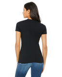 black fitted ladies t-shirt back view