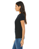 black fitted ladies t-shirt side view